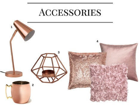 Accessories in Rose Gold