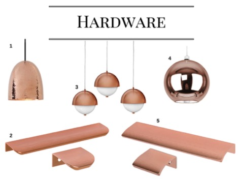 Hardware in Rose Gold