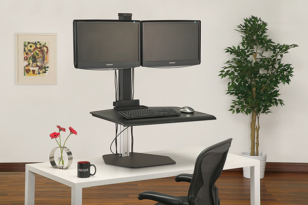 WS1-90 - Sit Stand Workstation Caddy