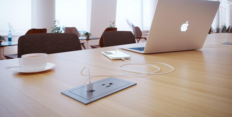 Brilliant Recessed Power Outlets Power Grommets Mockett Inzonedesignstudio Interior Chair Design Inzonedesignstudiocom