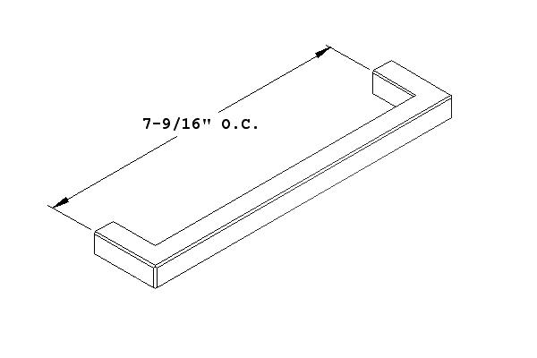 Center-To-Center Drawer Pull Chart