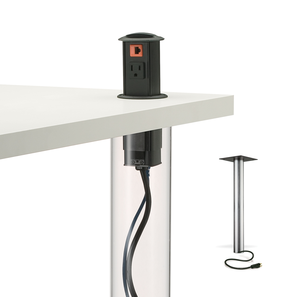 Table Legs with Power Integration