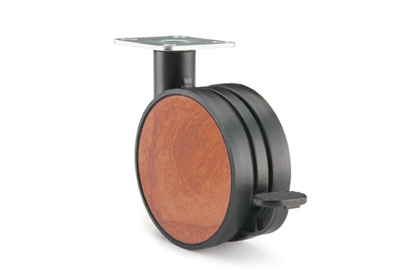 CA32PB-86 (Cherry) Mockett Caster Wheels Furniture Casters