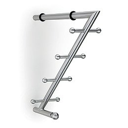 CH45-SSS (Satin Stainless) Mockett Shelf Support Coat Hooks Wall Hooks Coat Rack