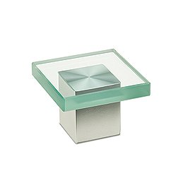"1-7/8"" Short Square Glass Drawer Pull - LIMITED TO STOCK! - $9.55"