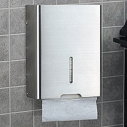 PTH4-SSS (Satin Stainless Steel) Mockett Paper Towel Dispenser Holder Bathroom