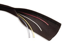 "6"" Flexible Tube Wire Manager with VELCRO® brand fasteners, 10 ft."