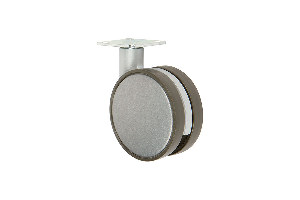 CA31PA-23 (Metallic Silver) Mockett Caster Wheels Furniture Casters