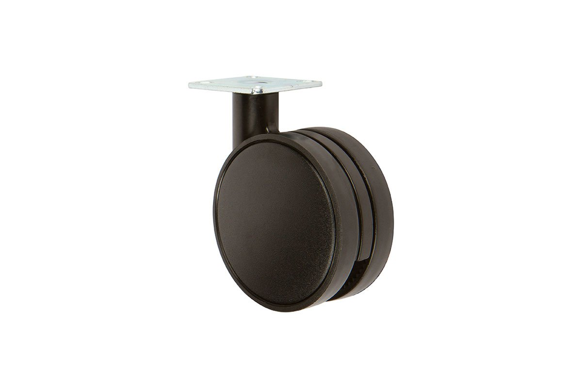 CA31PB-95 (Matte Black) Mockett Caster Wheels Furniture Casters
