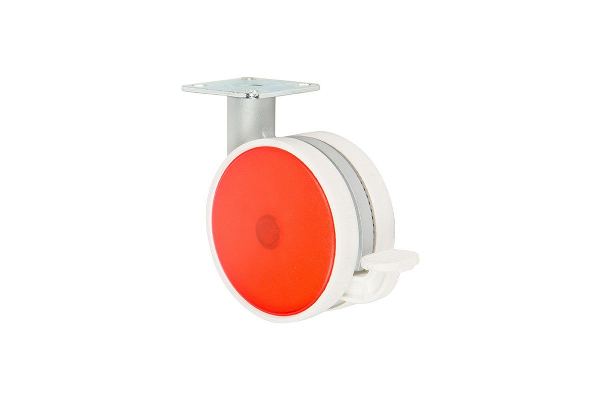 CA32PA-66T (Translucent Red) Mockett Caster Wheels Furniture Casters