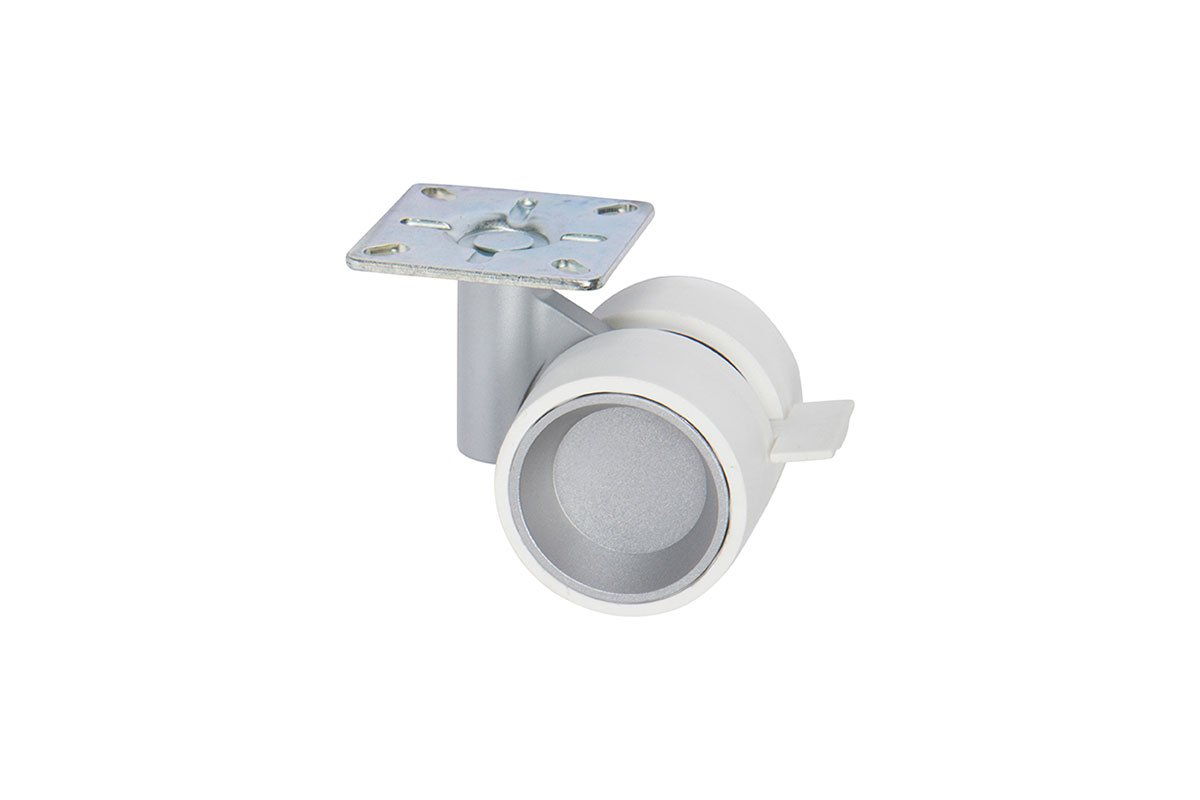 """3-1/8"""" Small Twin-Wheel Caster - Plate,  Brake - 50% OFF"""