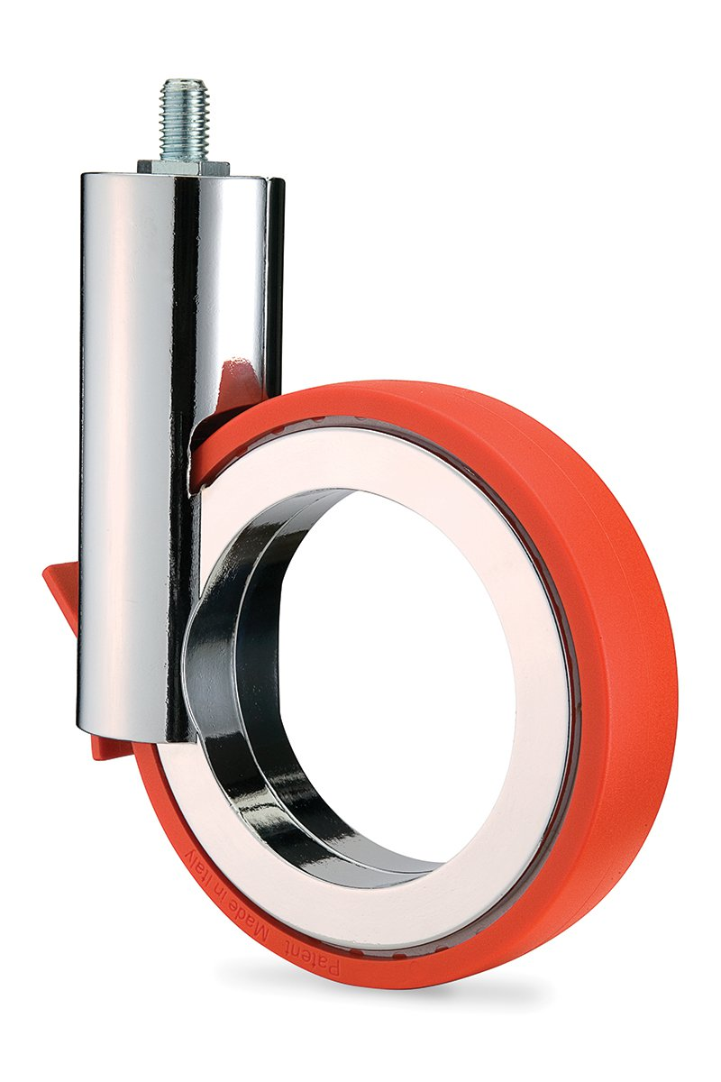 CA52C/SC-53 (Orange) Mockett Caster Wheels Furniture Casters