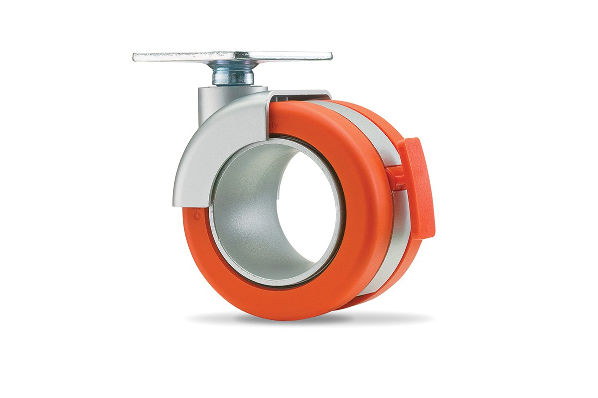 CA54PA-53 (Orange) Mockett Caster Wheels Furniture Casters