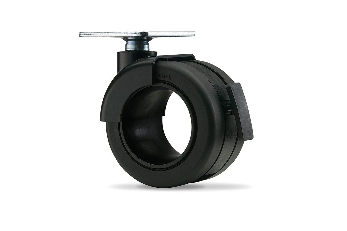 CA54PB-90 (Matte Black) Mockett Caster Wheels Furniture Casters