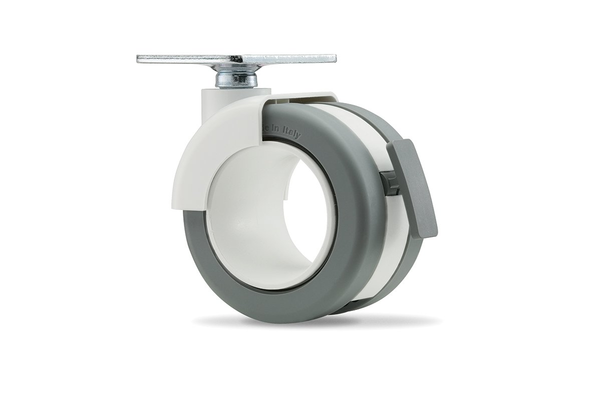 CA54PW-92L (Light Grey) Mockett Caster Wheels Furniture Casters