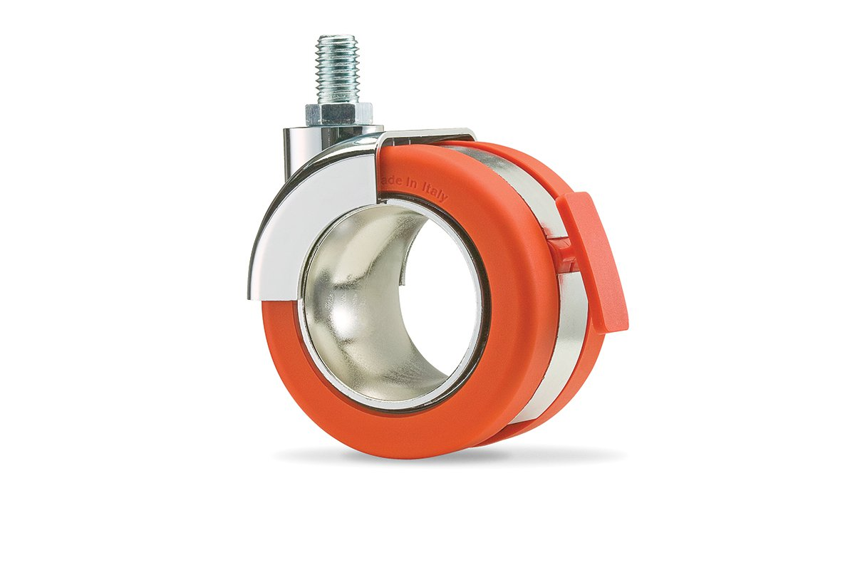 CA54SC-53 (Orange) Mockett Caster Wheels Furniture Casters