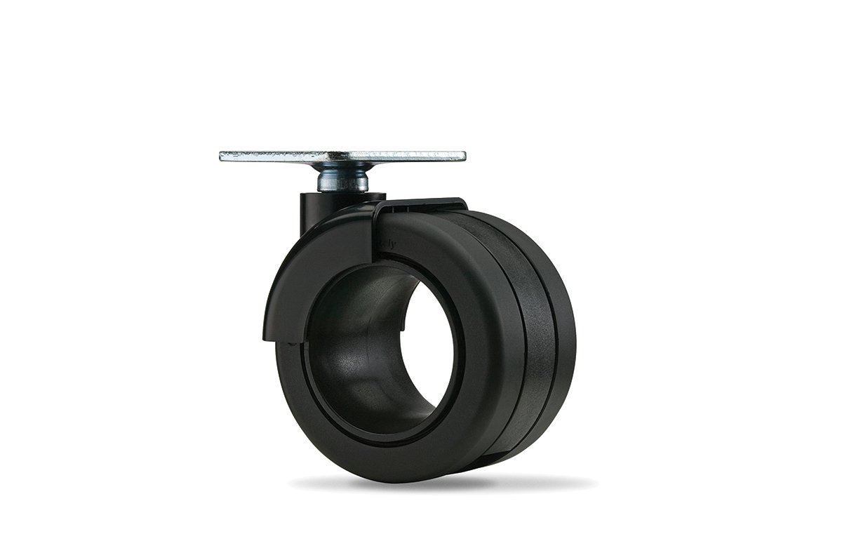 CA55PB-90 (Matte Black) Mockett Caster Wheels Furniture Casters