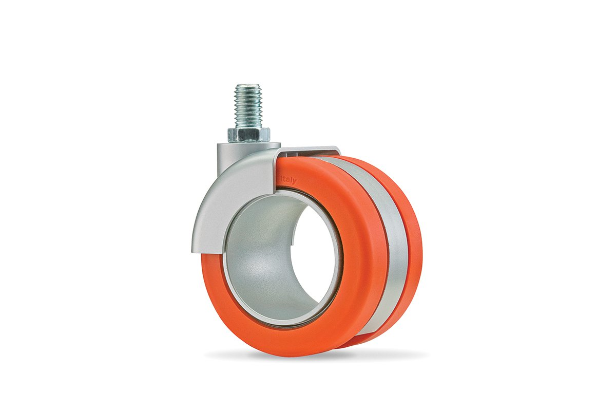 CA55SA-53 (Orange) Mockett Caster Wheels Furniture Casters