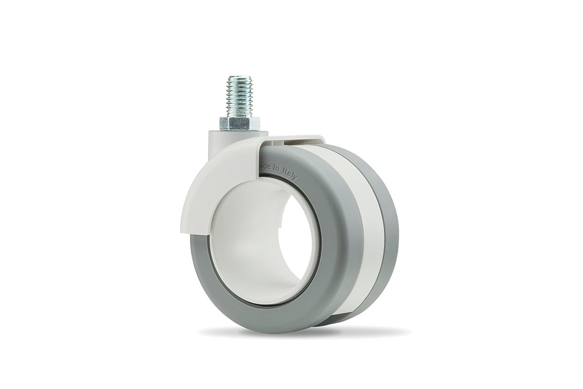 CA55SW-92L (Light Grey) Mockett Caster Wheels Furniture Casters