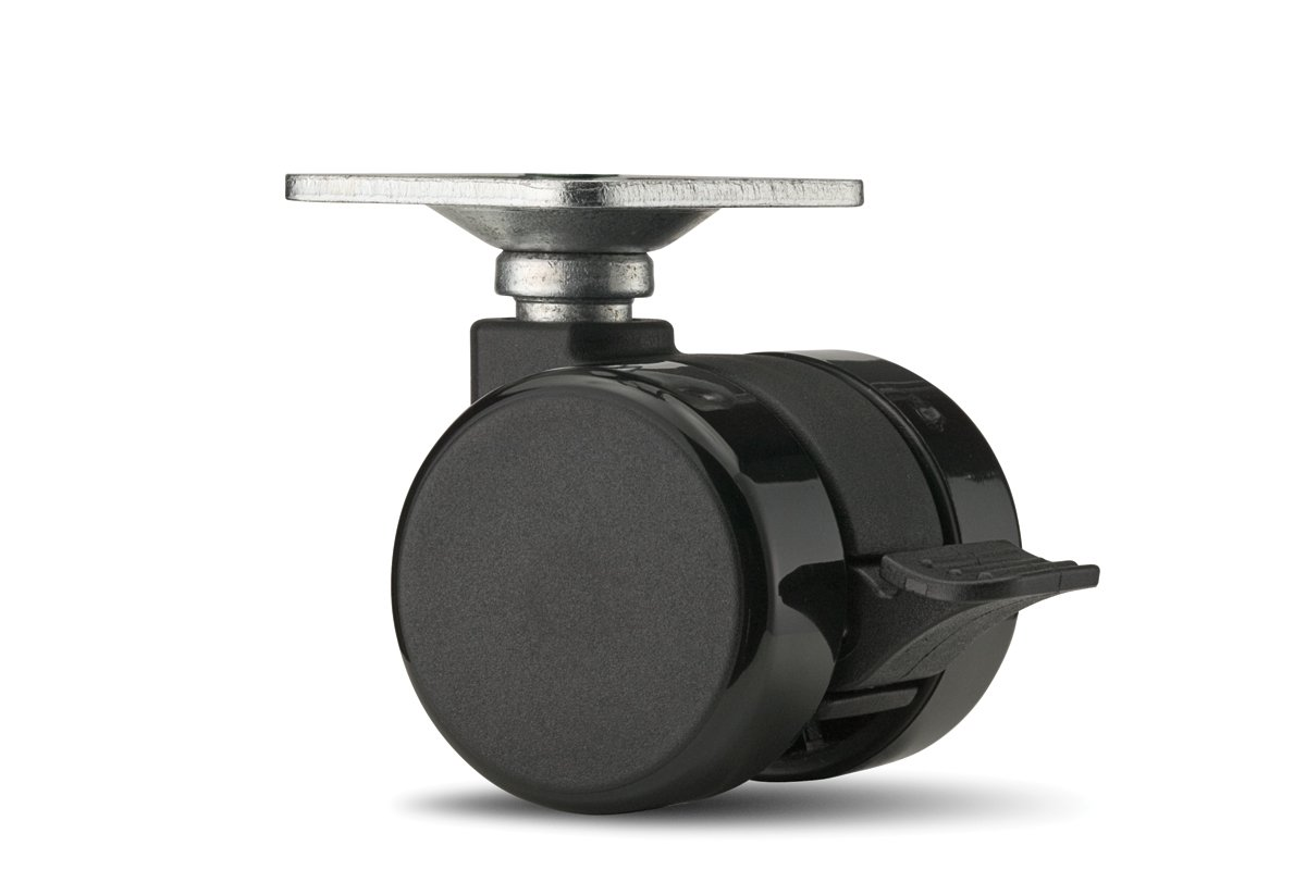 CA58PB-90 (Black) Mockett Caster Wheels Furniture Casters