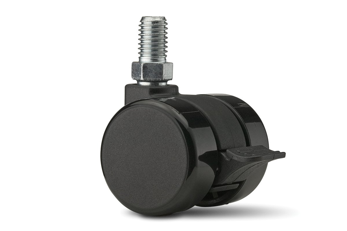 CA58SB-90 (Black) Mockett Caster Wheels Furniture Casters