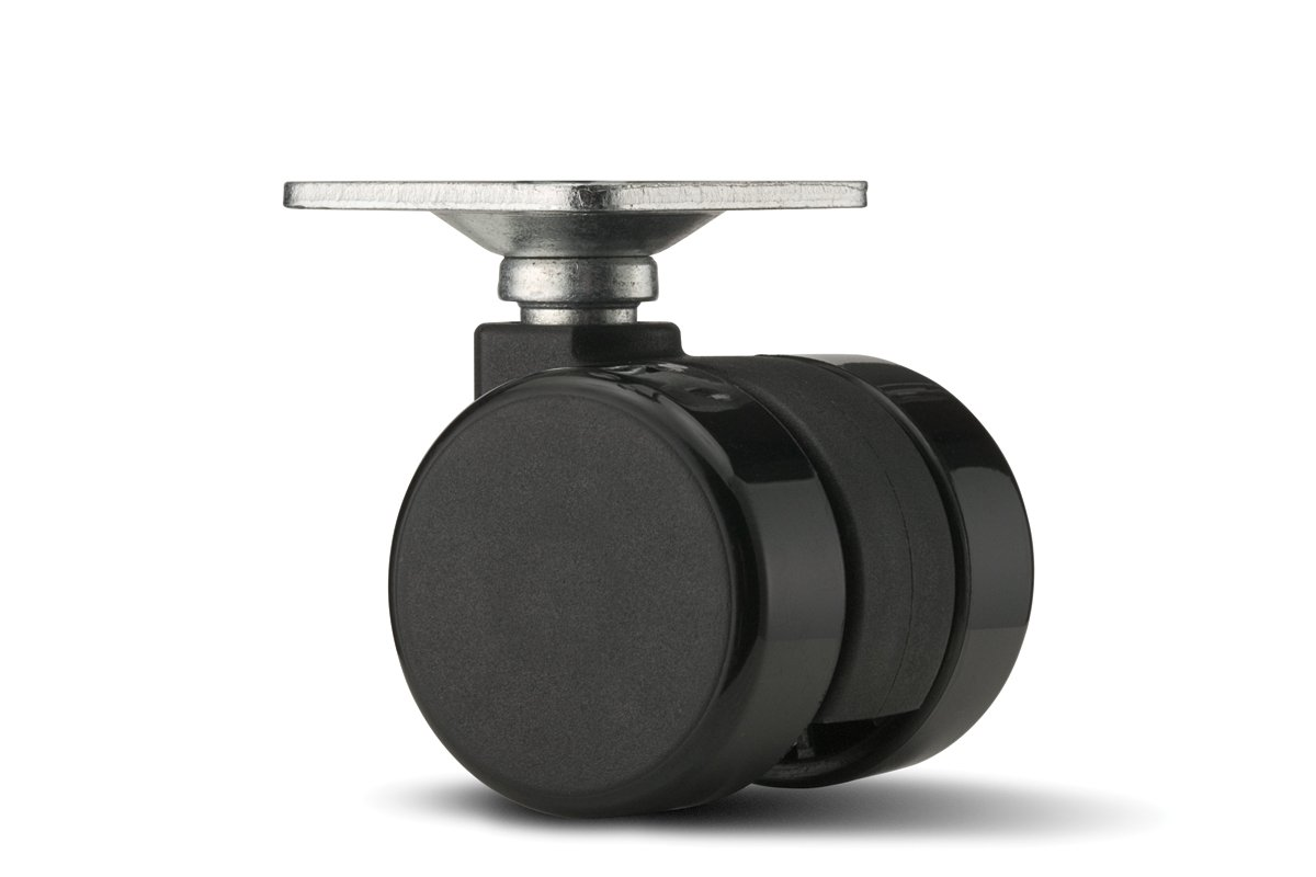CA59PB-90 (Black) Mockett Caster Wheels Furniture Casters