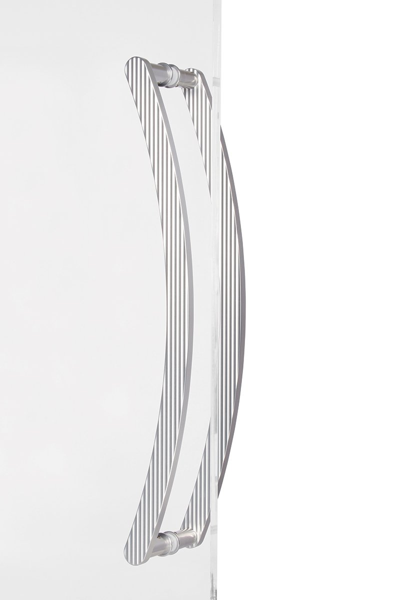Curved Door Handle - Back to back - Vertical