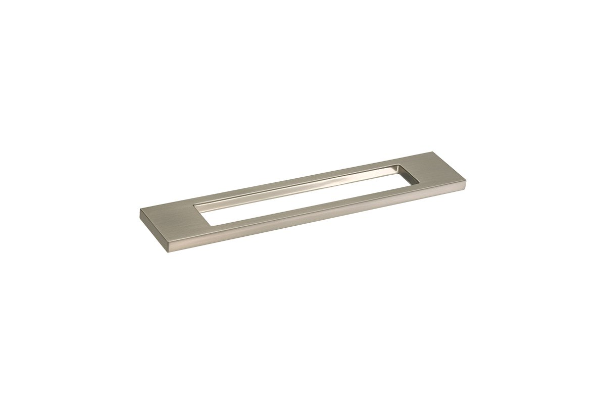 DP177A-17S (Satin Nickel) Mockett Drawer Pull Cabinet Hardware Handle Rectangular Bracket Pull