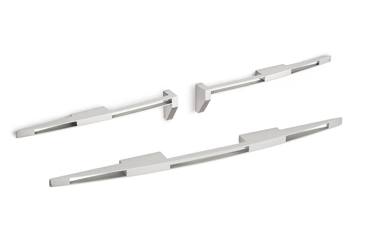 DP209 Satin Stainless Steel Mockett Drawer Pull Cabinet Hardware Handle