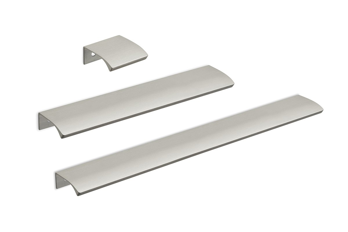 DP211 Mockett Tab Drawer Pull Cabinet Hardware Handle Edge Pull Aluminum