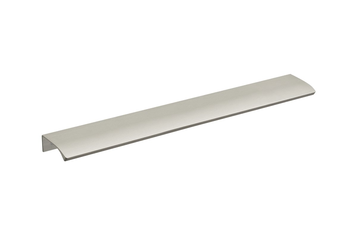 DP211C-94 (Brushed Satin Aluminum) Mockett Tab Drawer Pull Cabinet Hardware Handle Edge Pull Aluminum
