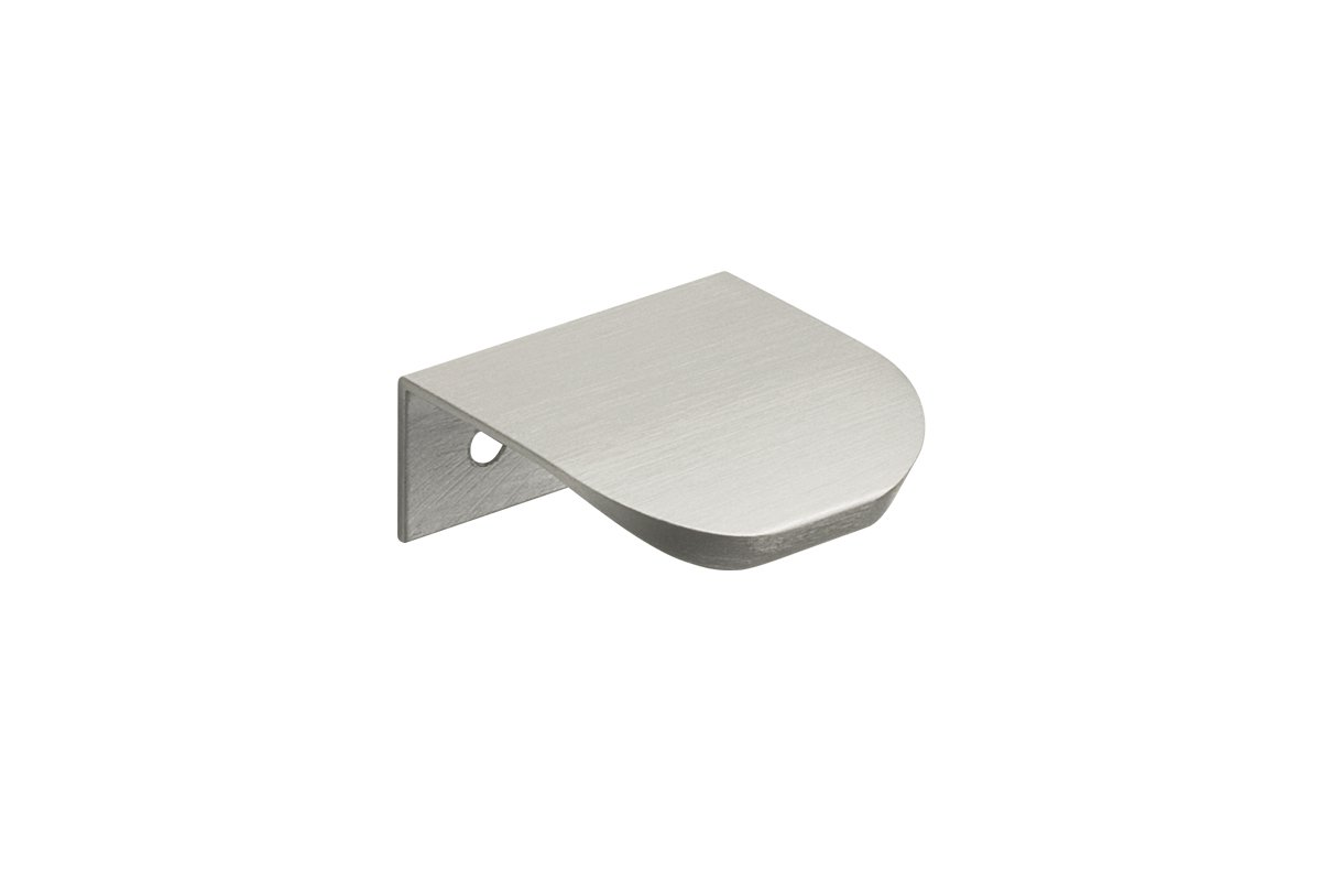 DP212A-94 (Brush Satin Aluminum) Mockett Tab Drawer Pull Cabinet Hardware Handle Edge Pull Aluminum