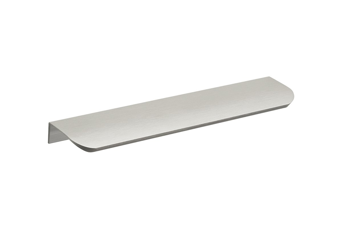 DP212B-94 (Brushed Satin Aluminum Mockett Tab Drawer Pull Cabinet Hardware Handle Edge Pull Aluminum