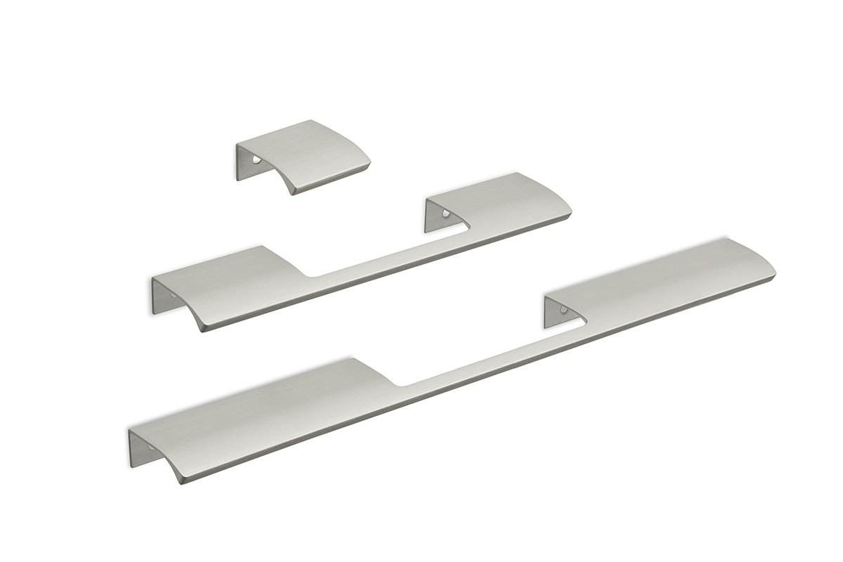 DP213 Mockett Tab Drawer Pull Cabinet Hardware Handle Edge Pull Aluminum