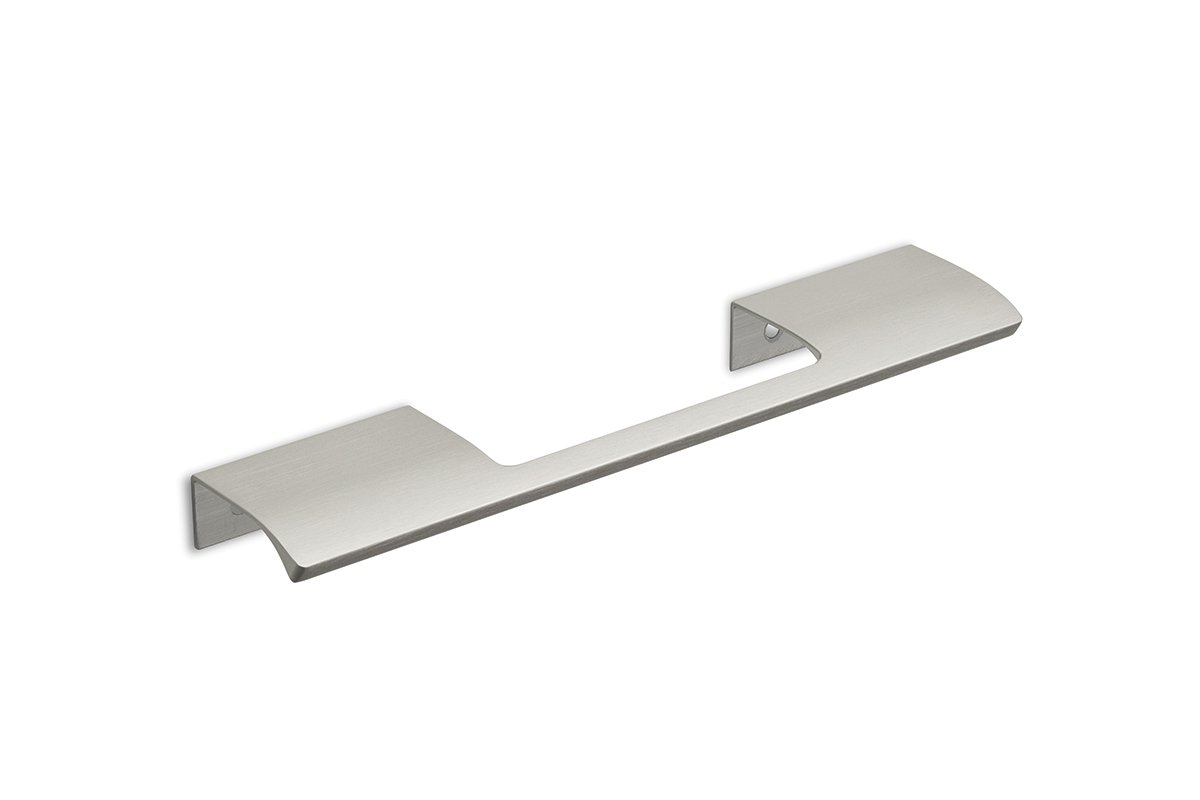 DP213B-94 (Satin Aluminum) Mockett Tab Drawer Pull Cabinet Hardware Handle Edge Pull Aluminum
