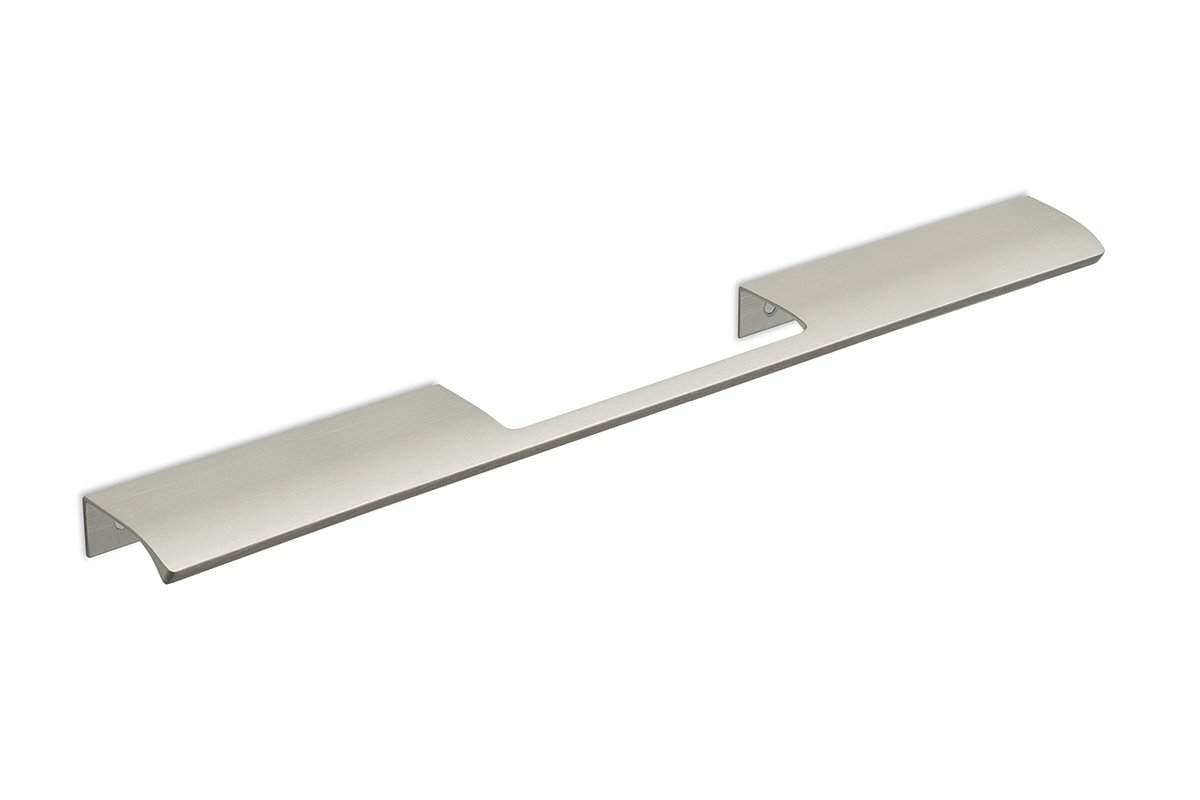 DP213C-94 (Satin Aluminum) Mockett Tab Drawer Pull Cabinet Hardware Handle Edge Pull Aluminum