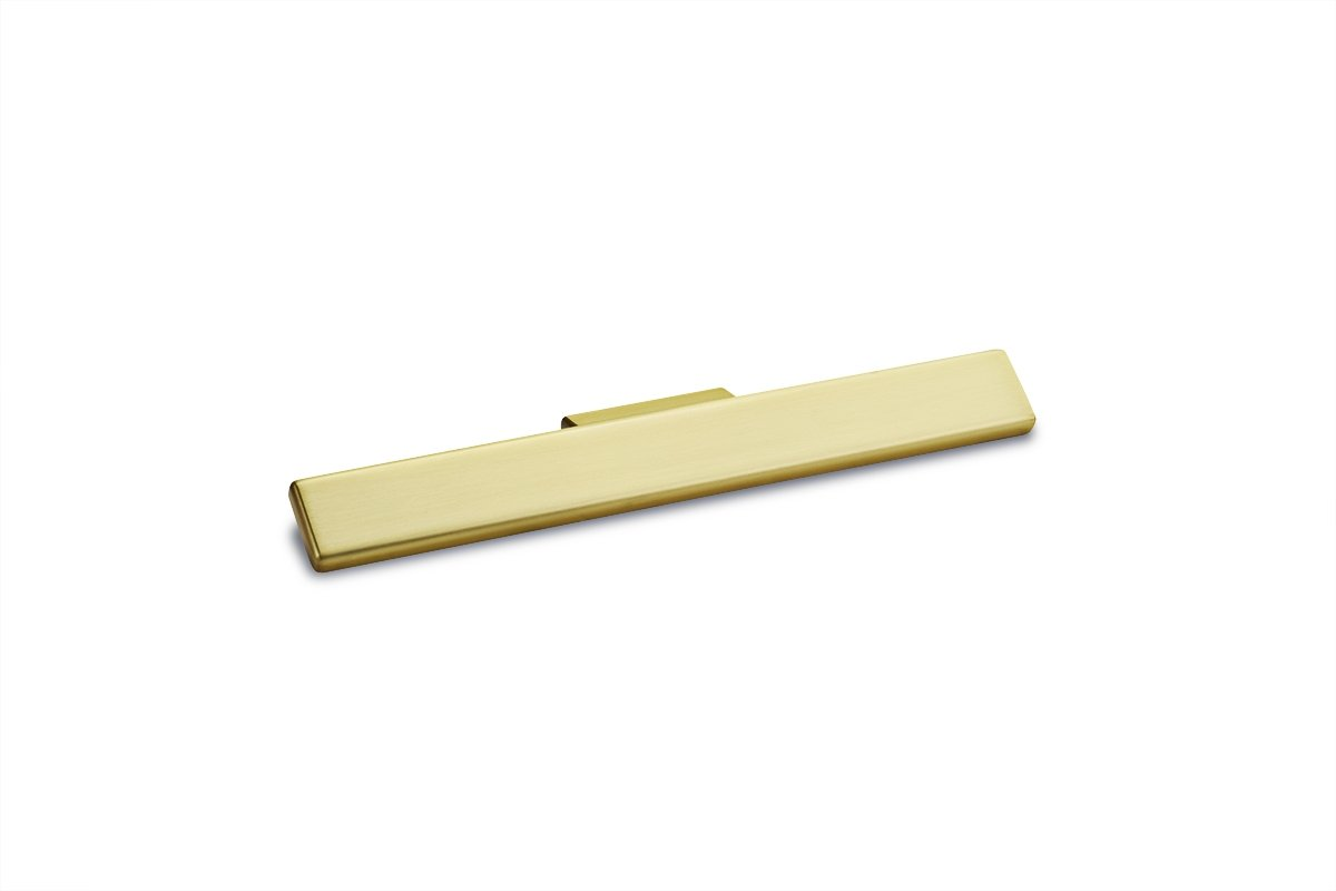 DP276-4B (Brushed Brass) Mockett Tab Drawer Pull Cabinet Hardware Handle Edge Pull