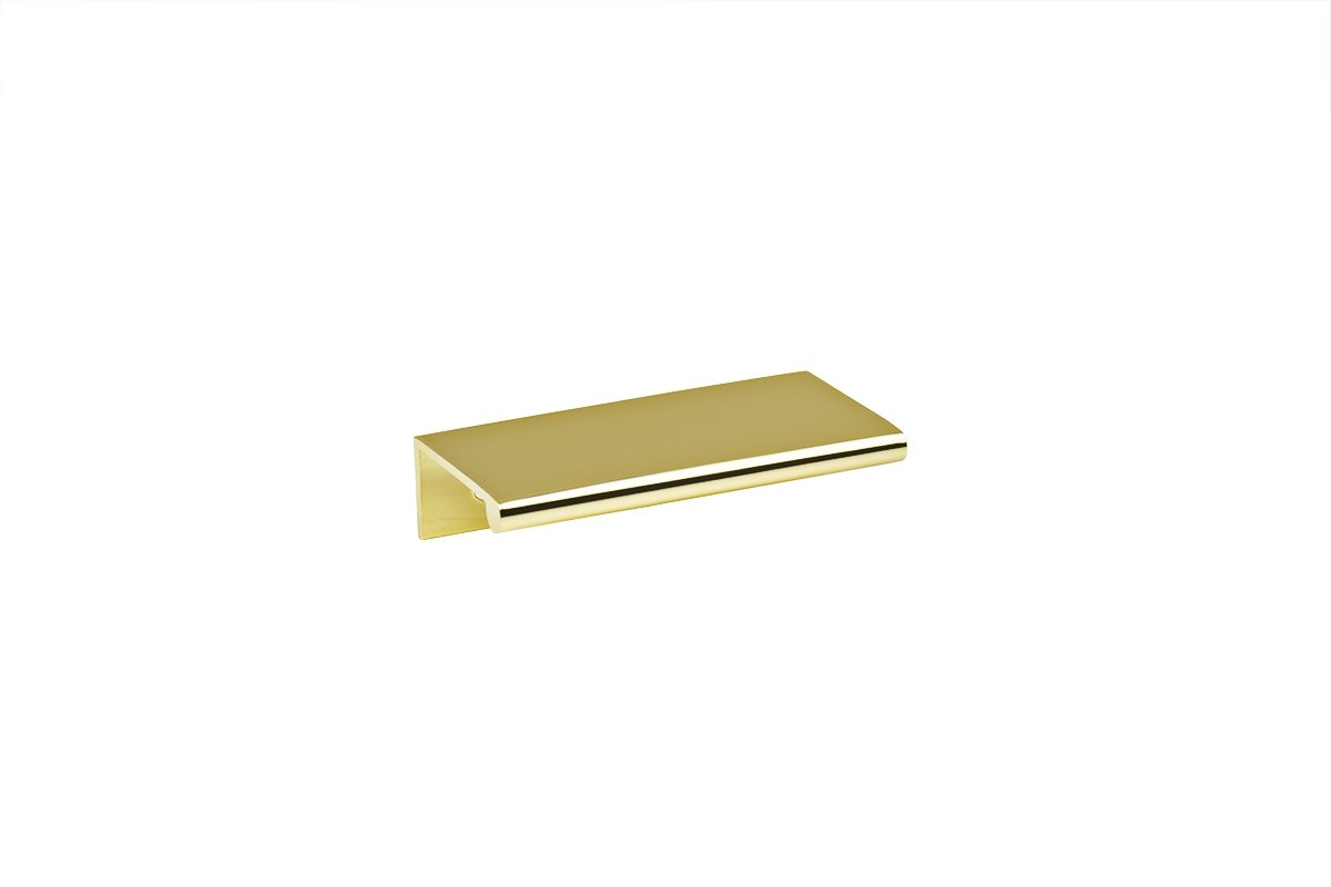 DP3A-3 (Polished Brass) Mockett Tab Drawer Pull Cabinet Hardware Handle Edge Pull