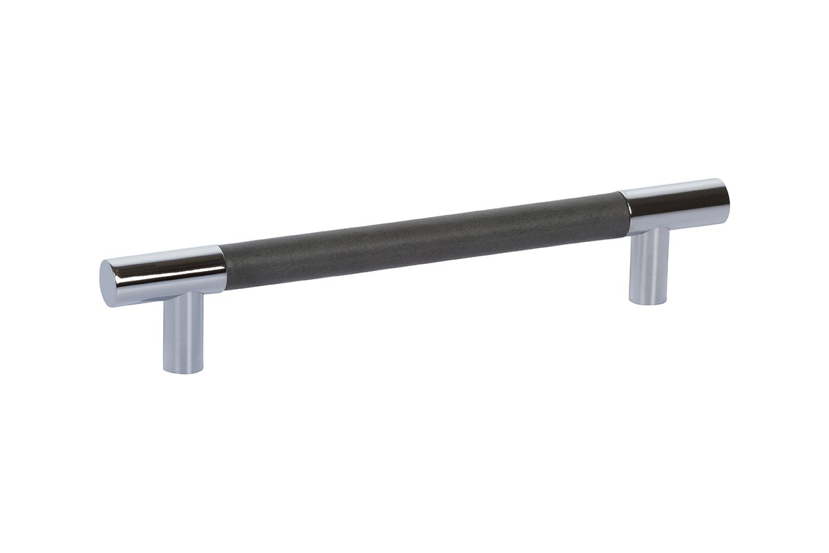 "6-9/16"" Barrel Leather T-Bar Drawer Pull - 50% OFF"