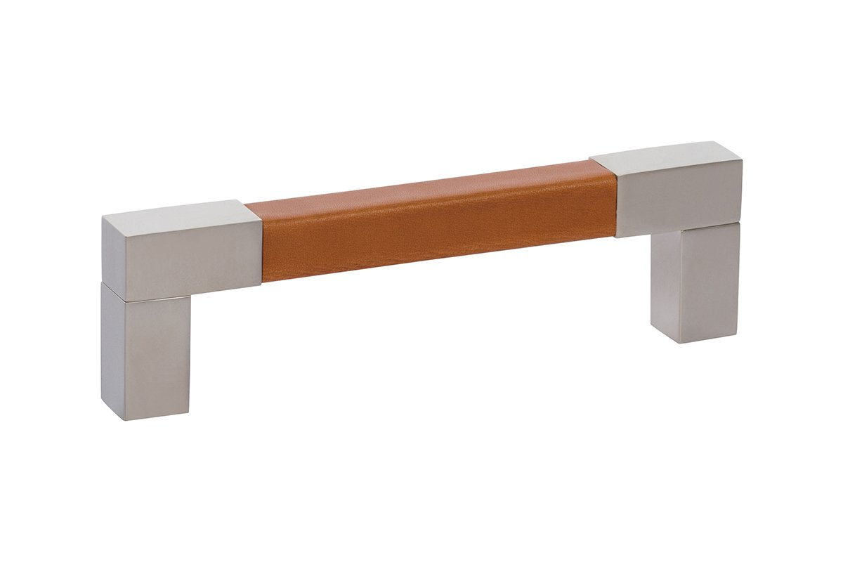 """5-1/2"""" Square Leather Drawer Pull - 50% OFF"""