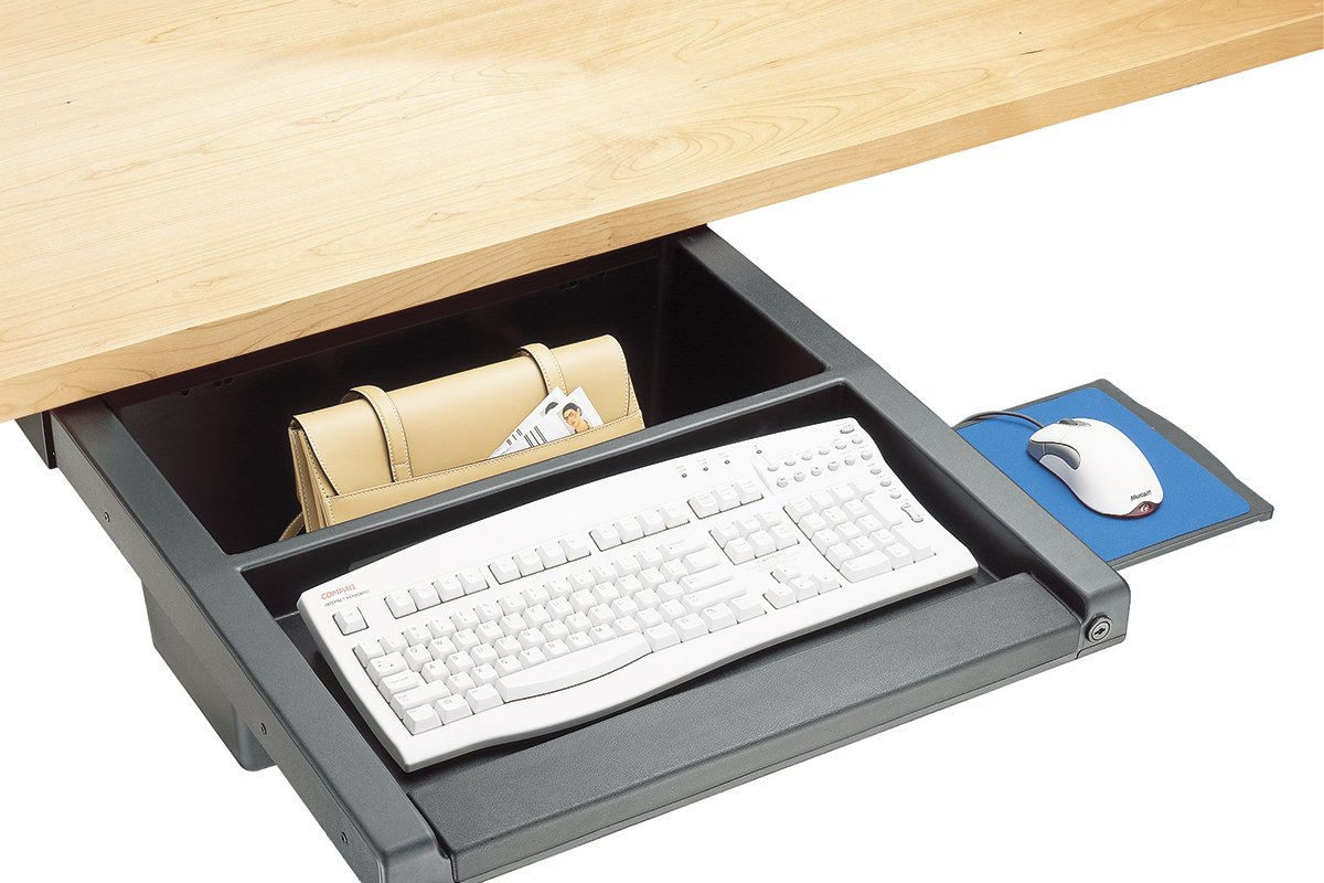 DWR2-90 (Matte Black) Mockett Storage Drawer Organizer for Desk