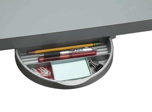 DWR5A-23 (Metallic Silver) Mockett Storage Drawer Organizer for Desk