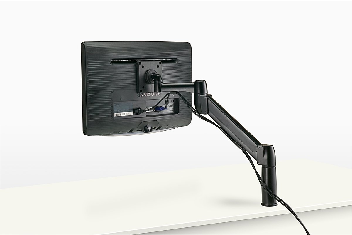 FSA1-90 (Matte Black) Mockett Computer Monitor Stand for Desk Monitor Arm
