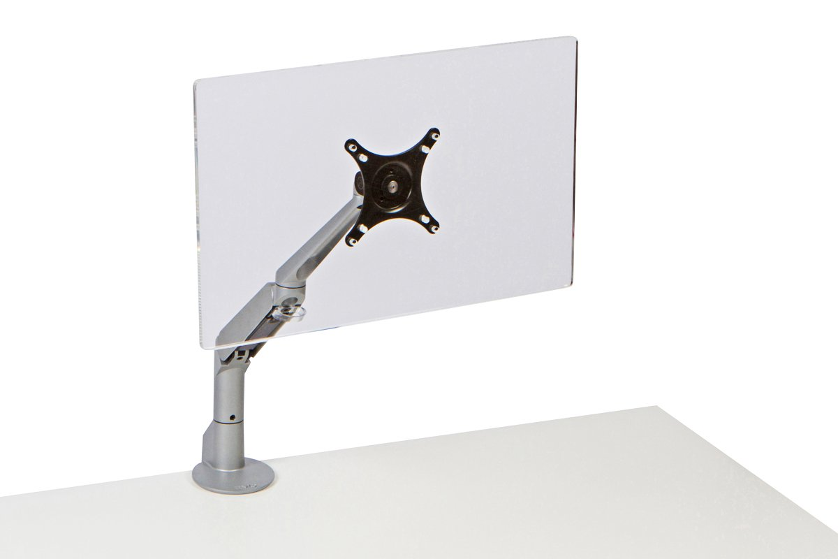 FSA10-23 (Metallic Silver) Mockett Computer Monitor Stand for Desk Monitor Arm