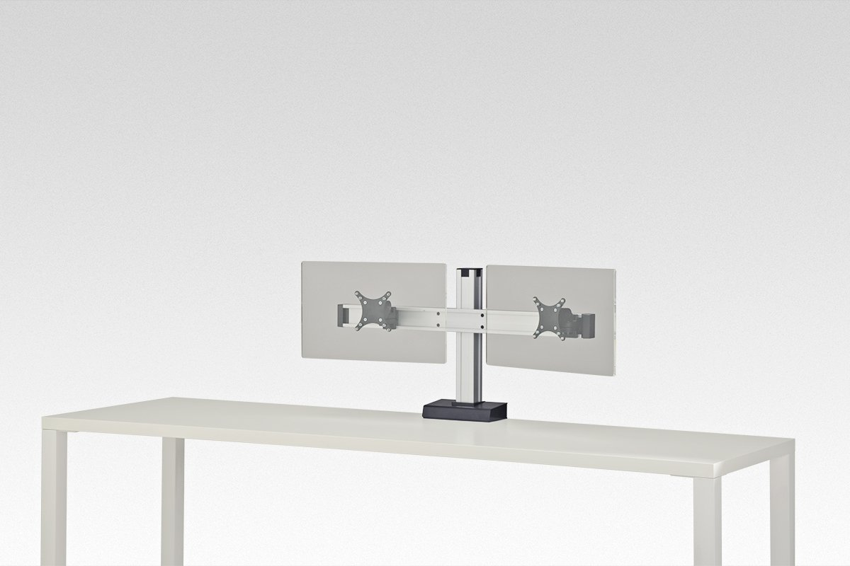 FSA7C/2-94 (Satin Aluminum) Mockett Computer Monitor Stand for Desk Monitor Arm