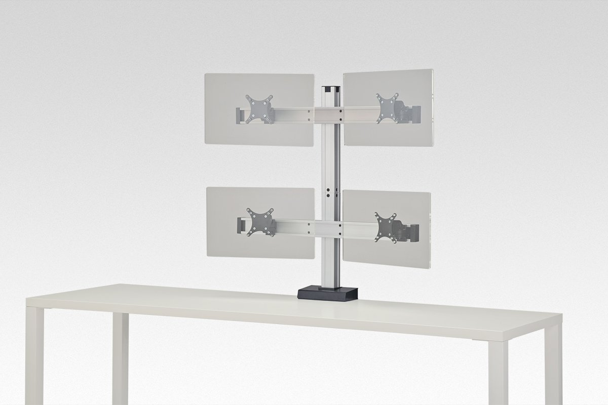 FSA7C/2-2-94 (Satin Aluminum) Mockett Computer Monitor Stand for Desk Monitor Arm