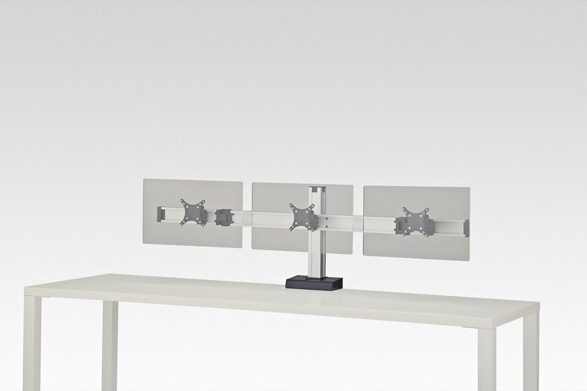 FSA7C/3-94 (Satin Aluminum) Mockett Computer Monitor Stand for Desk Monitor Arm