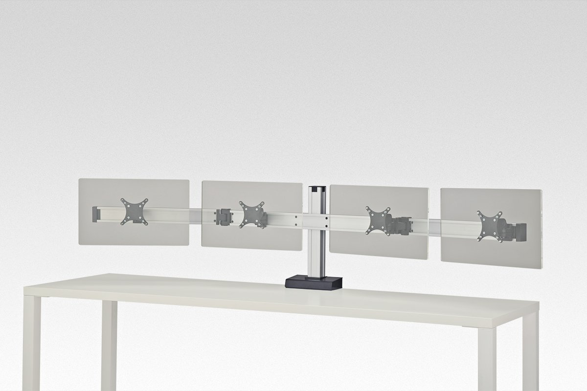 FSA7C/4-94 (Satin Aluminum) Mockett Computer Monitor Stand for Desk Monitor Arm