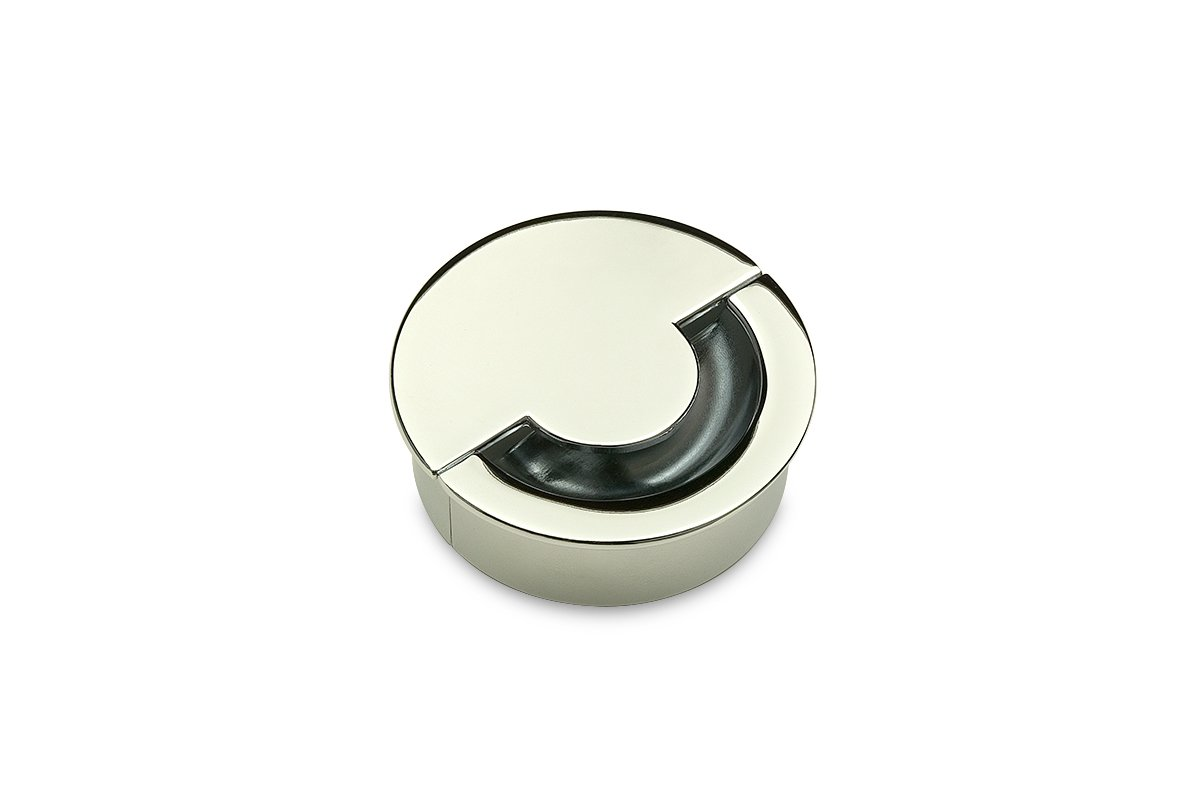 GRN1-26 (Polished Chrome) Mockett Cable Management Desk Grommet