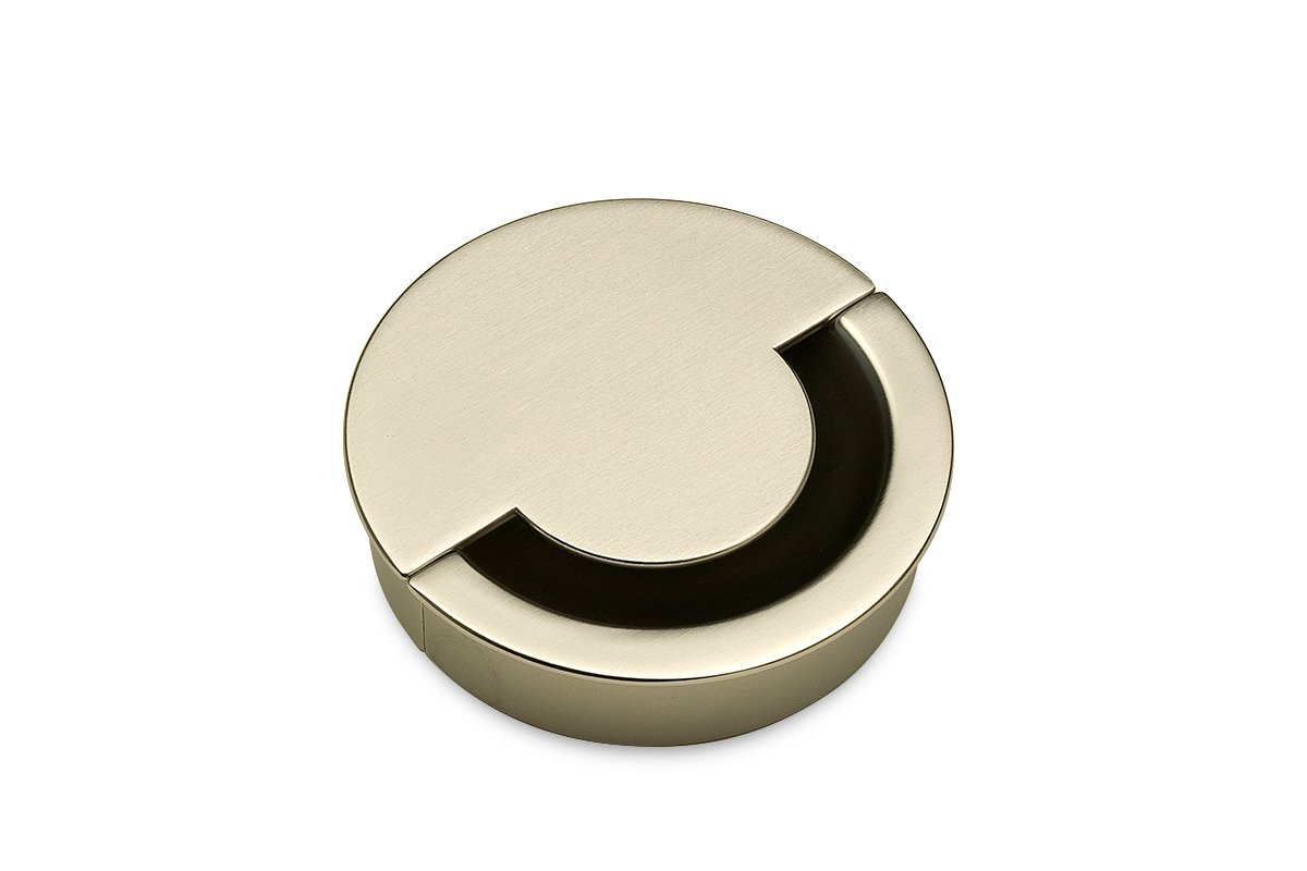 GRN2-17S (Satin Nickel) Mockett Cable Management Desk Grommet